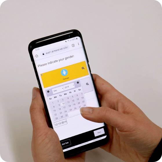 Testing using smartphone